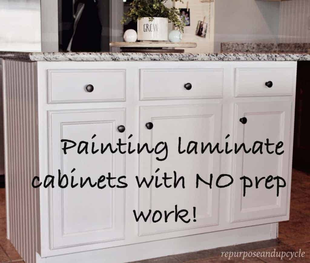 Painting Laminate Cabinets The Right Way Without Sanding In 2020 Painting Laminate Kitchen Cabinets Laminate Cabinets Painting Laminate Cabinets