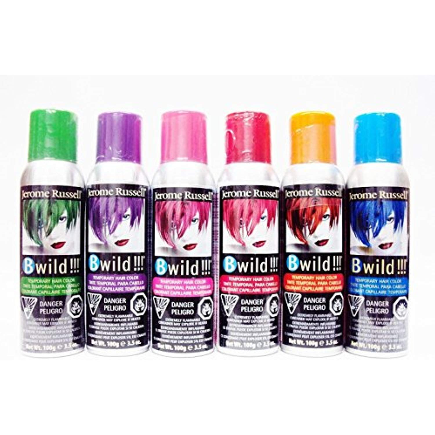 Jerome Russell B Wild Temp Ry Hair Color Spray 3 Oz 6 Pack