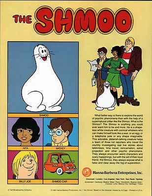 Hanna Barbera Style Guide Plate The Shmoo Gang Vintage