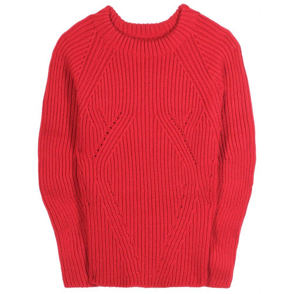 Burberry Prorsum rib transfer sweater mytheresa.com - Cashmere ...
