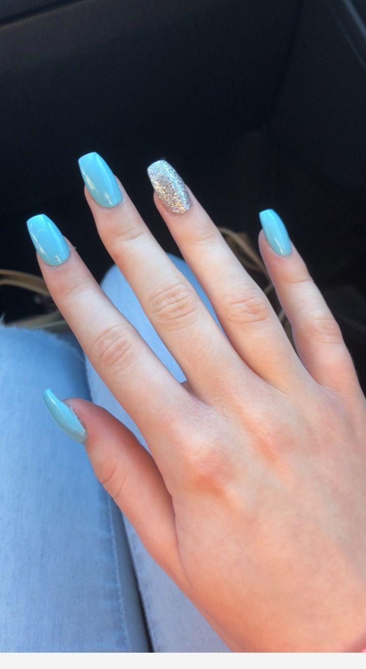 Blue Acrylic Nails Blue Acrylic Nails Sparkle Acrylic Nails Glitter Nails Acrylic