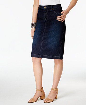 e3d6f2c24e Style & Co Petite Denim Pencil Skirt, Created for Macy's   macys.com ...