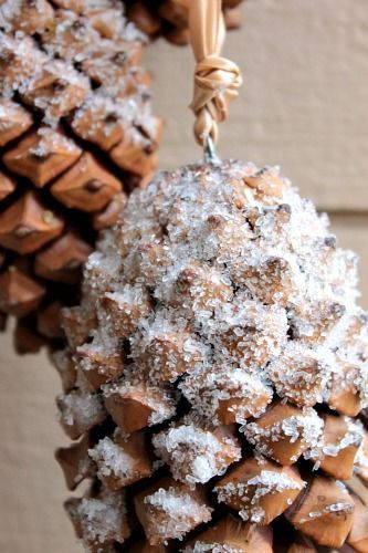 Christmas Pine Cone Ornaments. Set of 4. Beautiful! by SewCraftCrazy4U on Etsy