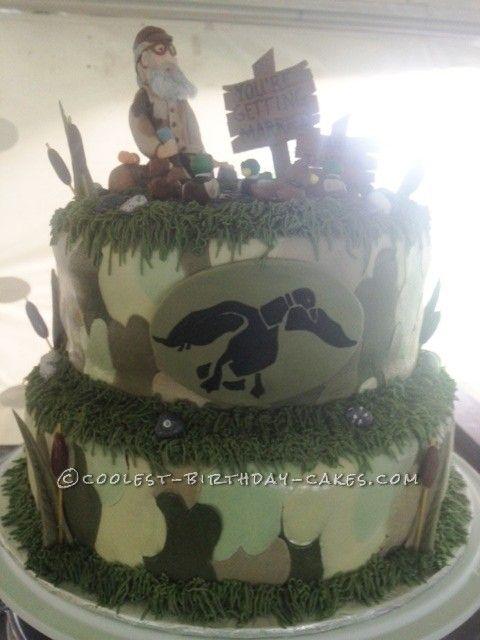 Coolest Homemade Duck Dynasty Groom Cake Duck dynasty Birthday