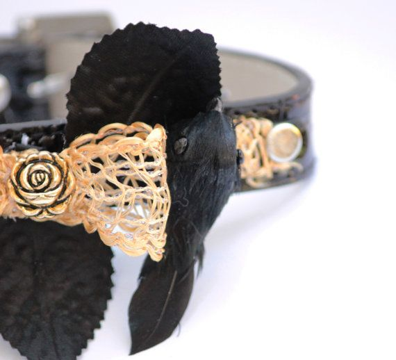 Handmade Halloween Dog Collar  One of a kind dog by LADogStore, $35.99