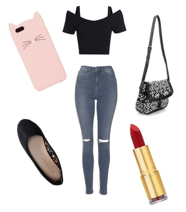 """Out and have fun"" by aflores-1 on Polyvore featuring Topshop, Aéropostale, Kate Spade and Isaac Mizrahi"