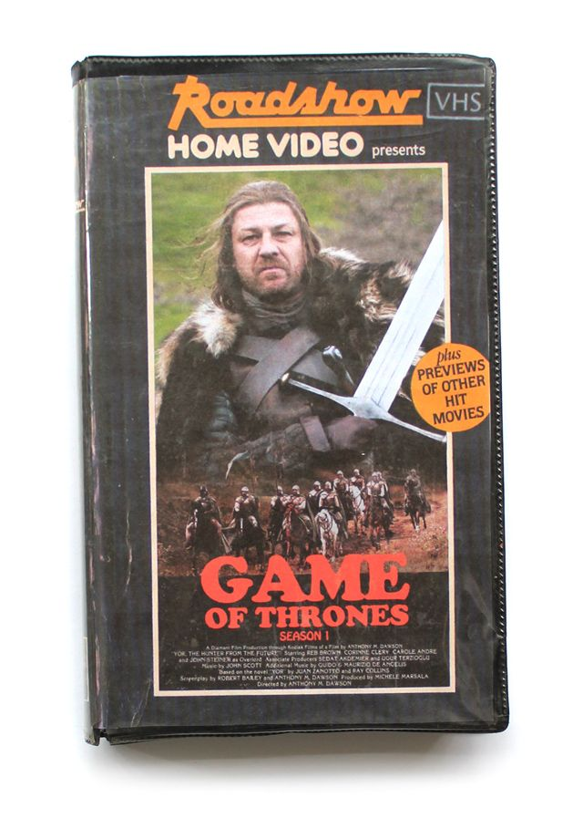 Retro Vhs Covers For Game Of Thrones Guardians Of The Galaxy And More Vhs Current Movies Most Popular Tv Shows