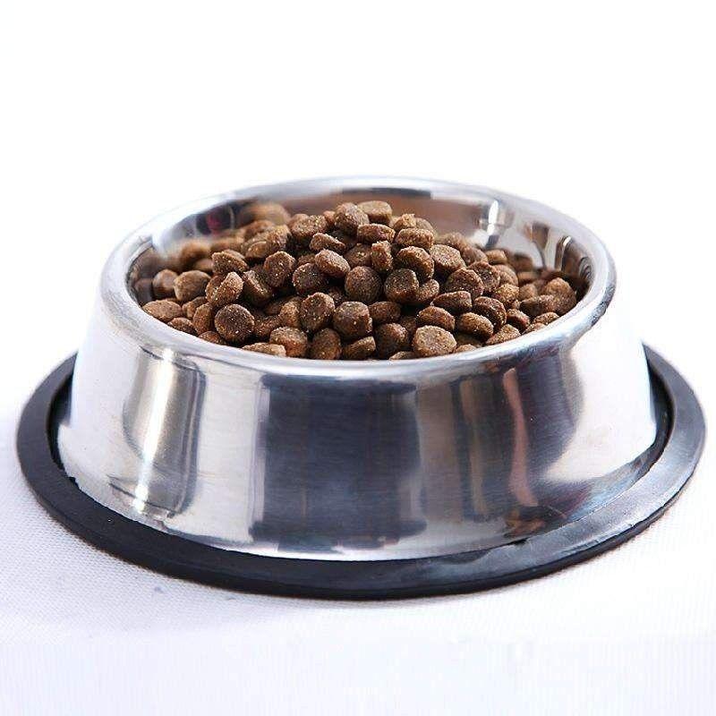 Stainless Steel Dog Bowl Anti Skid Pet Feeder Puppy Dog Food Water