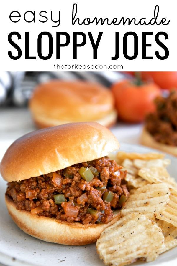 Easy Homemade Sloppy Joes