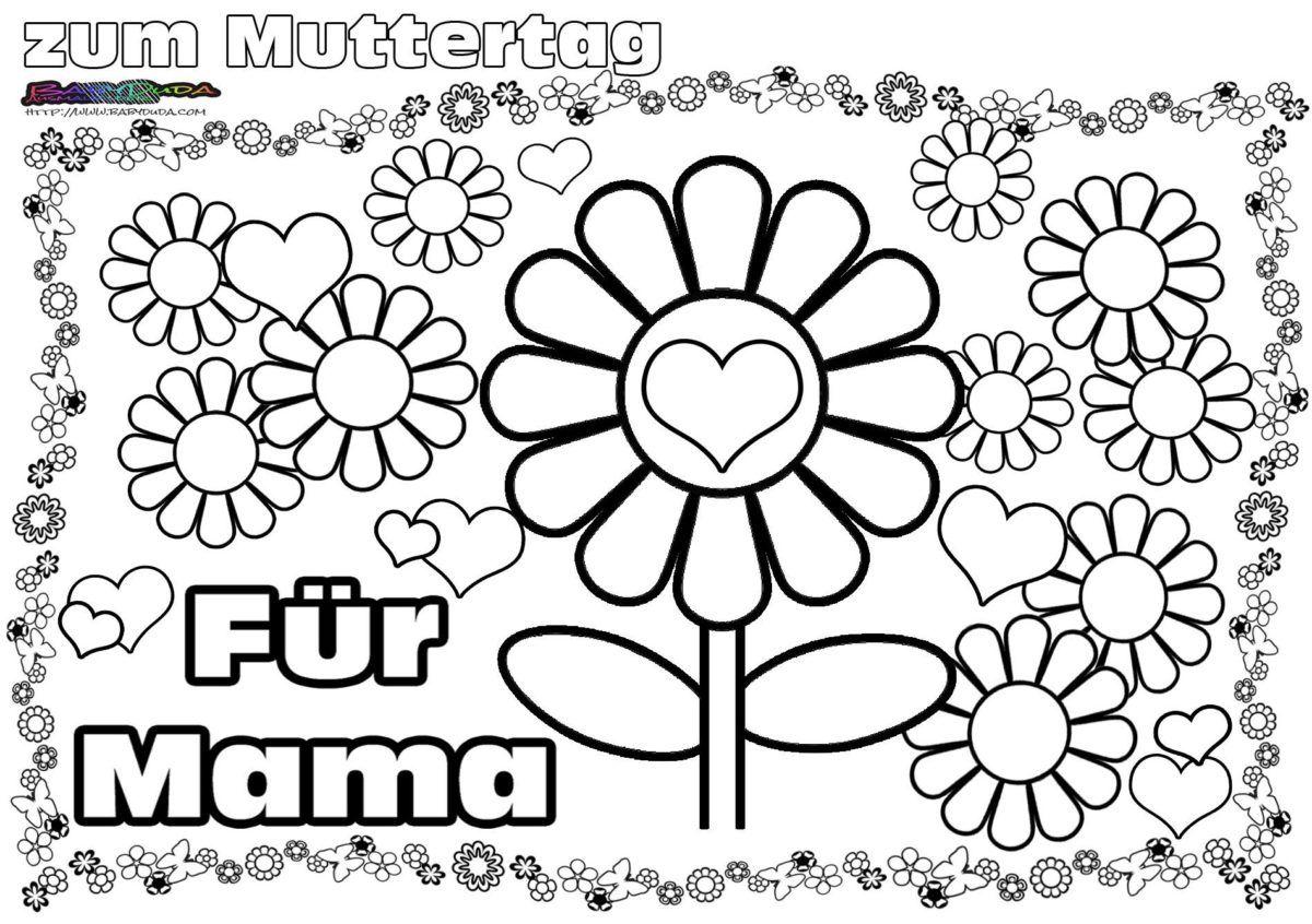 Muttertag Ausmalbild Malvorlage Gruss Mit Herz Babyduda Malbuch Muttertag Bilder Muttertag Malvorlagen Muttertag