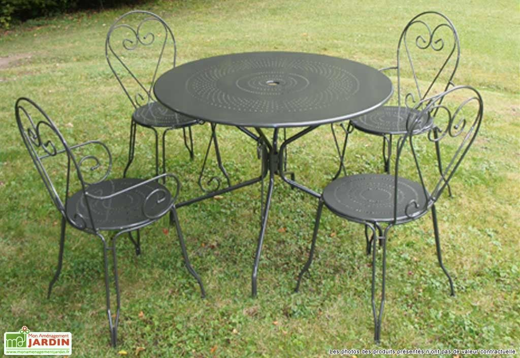 table ronde tradition - Salon De Jardin Table Ronde