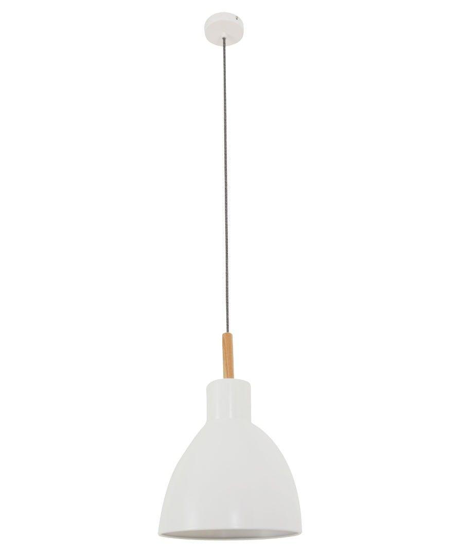 Meyer 225mm Pendant In Matt Ash White Modern Pendants