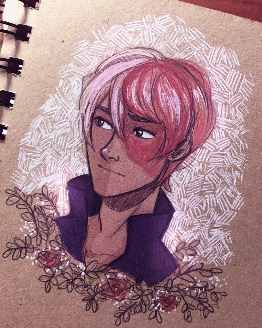 I Love My Sweet Icyhot Son Sketched With A 2b Pencil And Touched Up In Procreate Todorokishouto Shoutotodoroki Todoroki Bn Drawings Artist Anime
