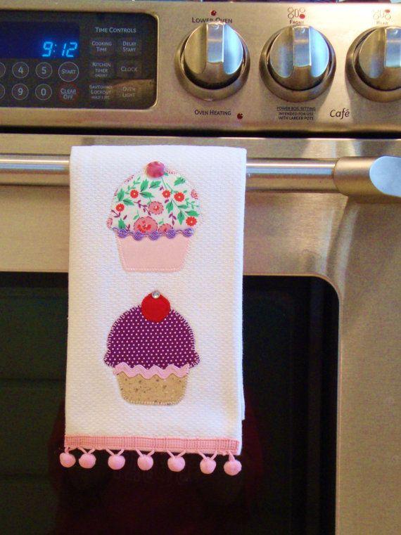 Adorable cupcake towels