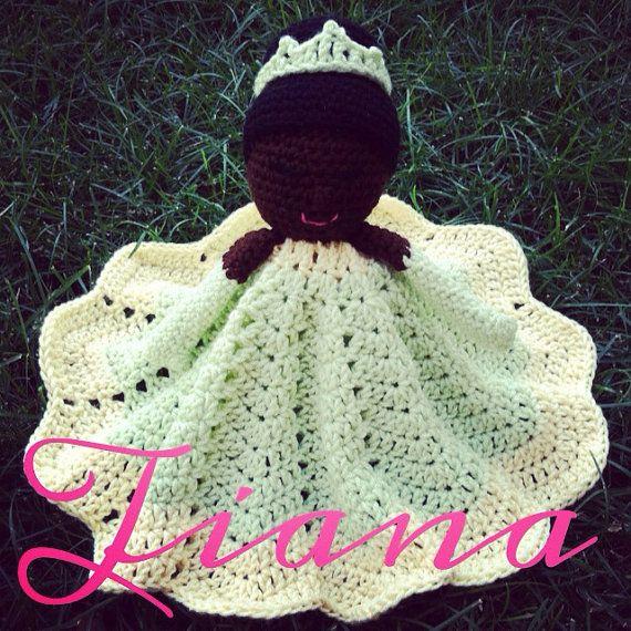 Crochet security blanket lovey- princess doll #crochetsecurityblanket