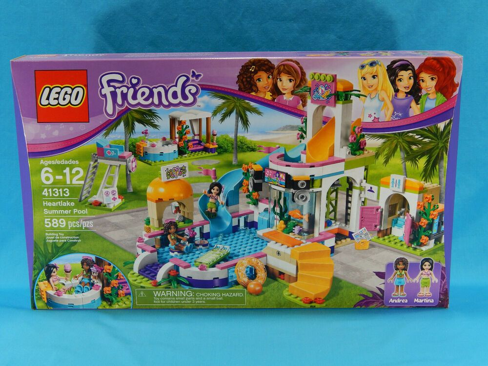 NEW//BOXED//SEALED LEGO FRIENDS HEARTLAKE SUMMER POOL 41313
