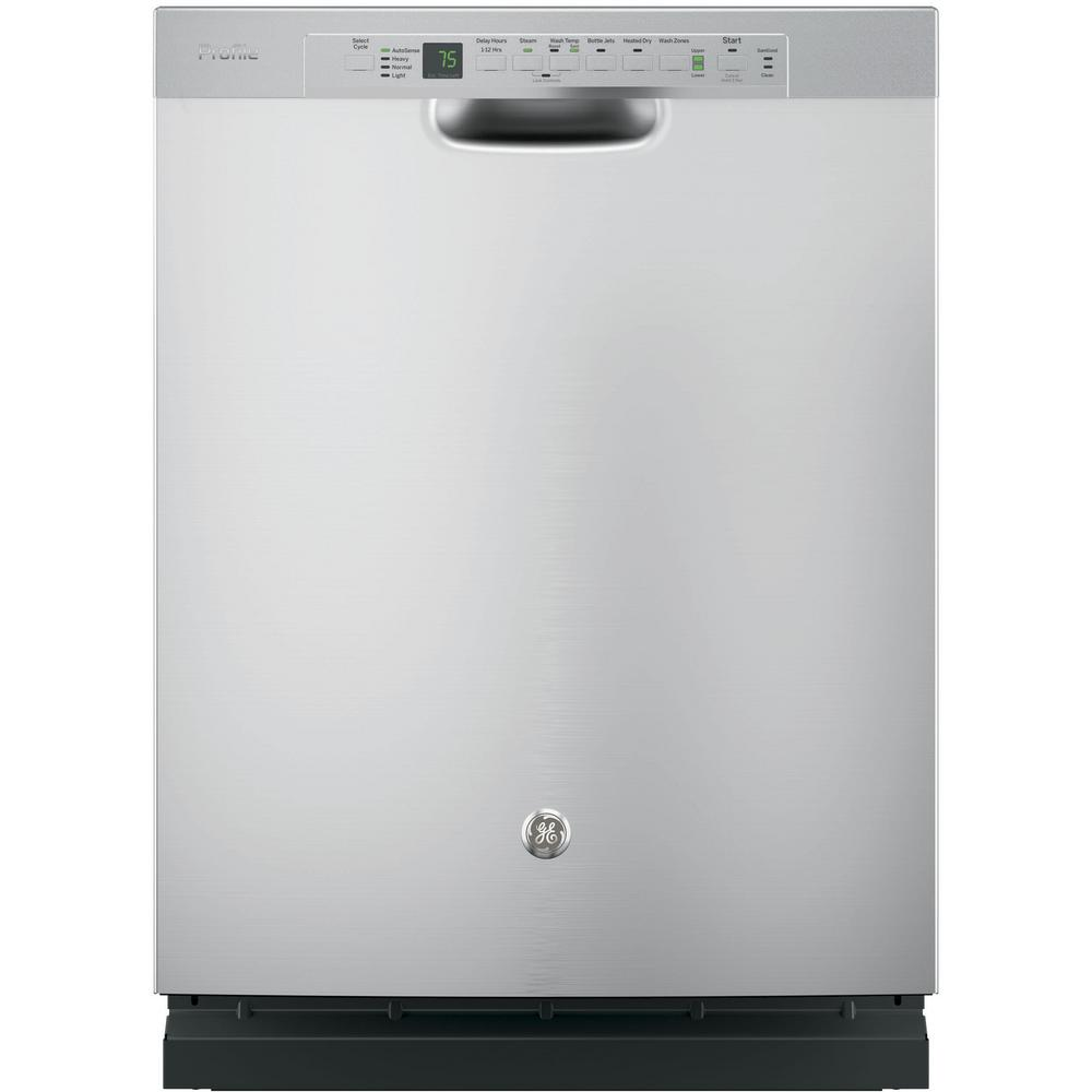 Ge Profile Front Control Dishwasher In Stainless Steel With Stainless Steel Tub And Steam Prewash 45 Dba Pdf820ssjss Steel Tub Built In Dishwasher Stainless Steel Dishwasher