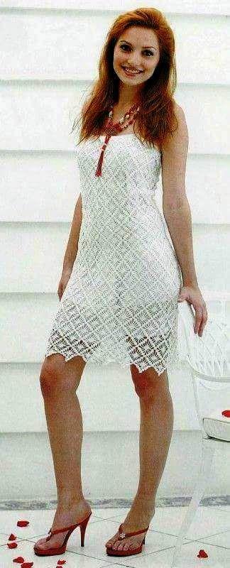 vestido branco de ano novo | crochet | pinterest | vestidos de