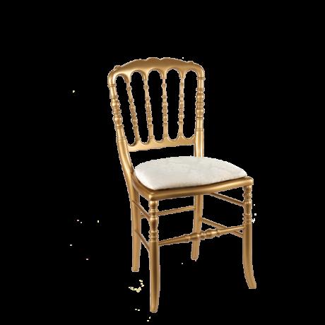 chaise napol on iii dor e fixe gala blanc cette chaise d 39 inspiration 19 me garde un style. Black Bedroom Furniture Sets. Home Design Ideas