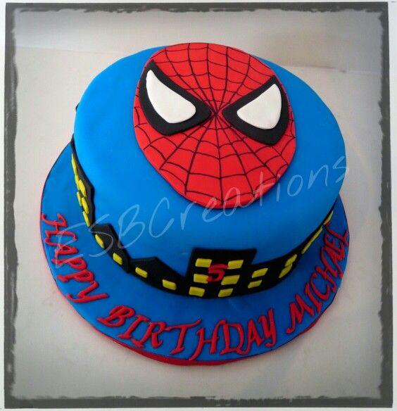 Spiderman cake .. All fondant