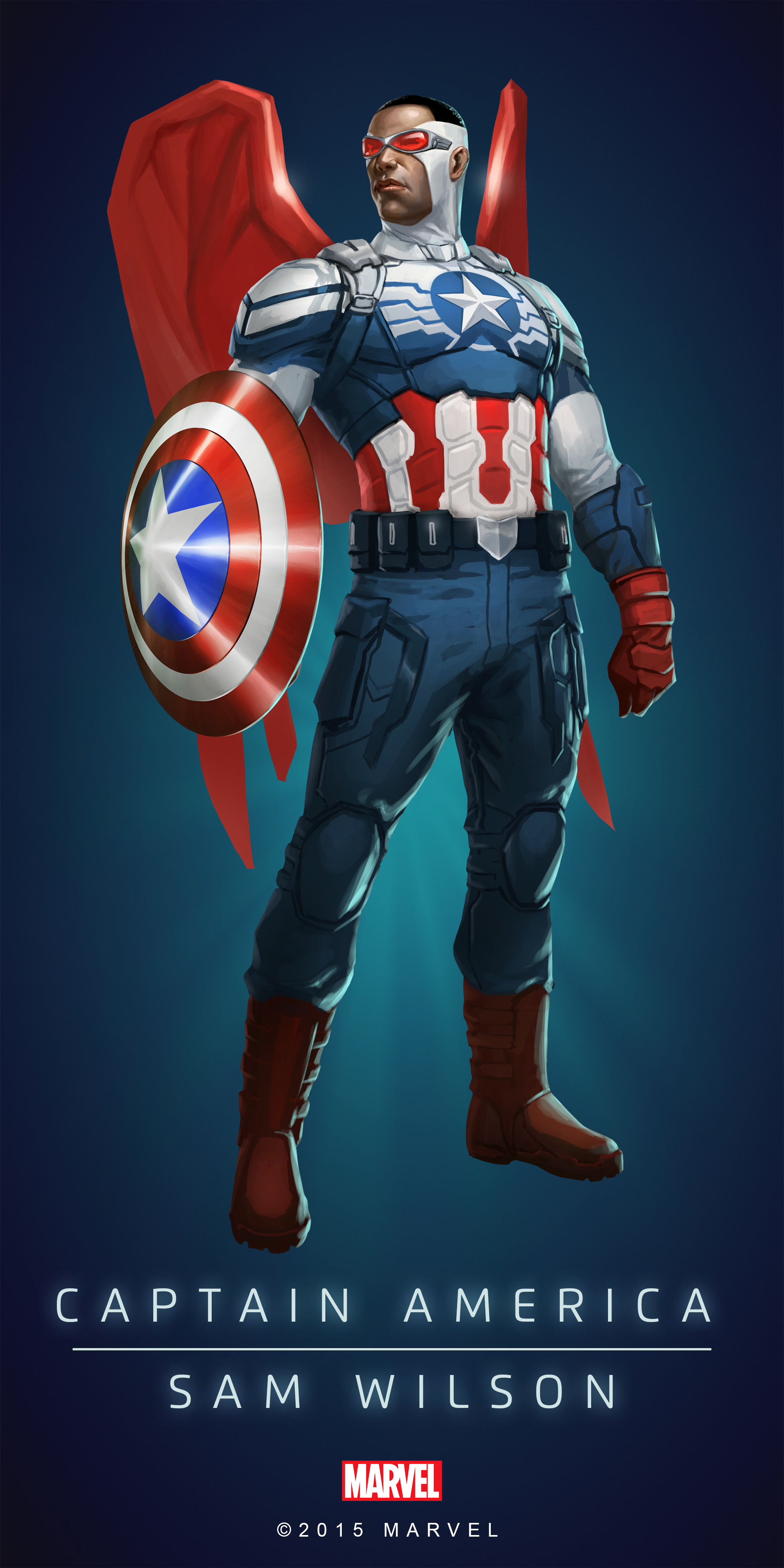 Captian #America #Fan #Art  (CAPTAIN AMERICA - SAM WILSON IN
