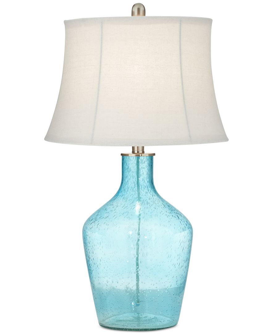 Glass Lamp Tables Ireland Pacific Coast Sea Blue Glass Table Lamp Created For Macy S