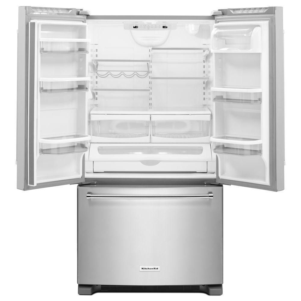 Kitchenaid 252 cu ft french door refrigerator in