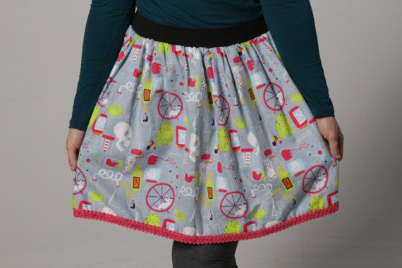 Adult's Mad Scientist Skirt by QuirkySkirtsATL on Etsy