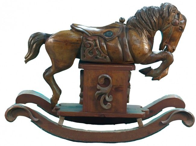 Large Wood Carved Rocking Horse A Horses Horses Wood Rocking Horse Antique Rocking Horse