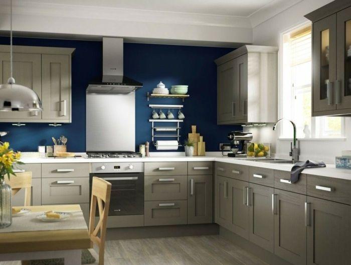 Meuble bas bois - Blanc/Bleu/Taupe/gris - Achat / Vente meuble bas ...