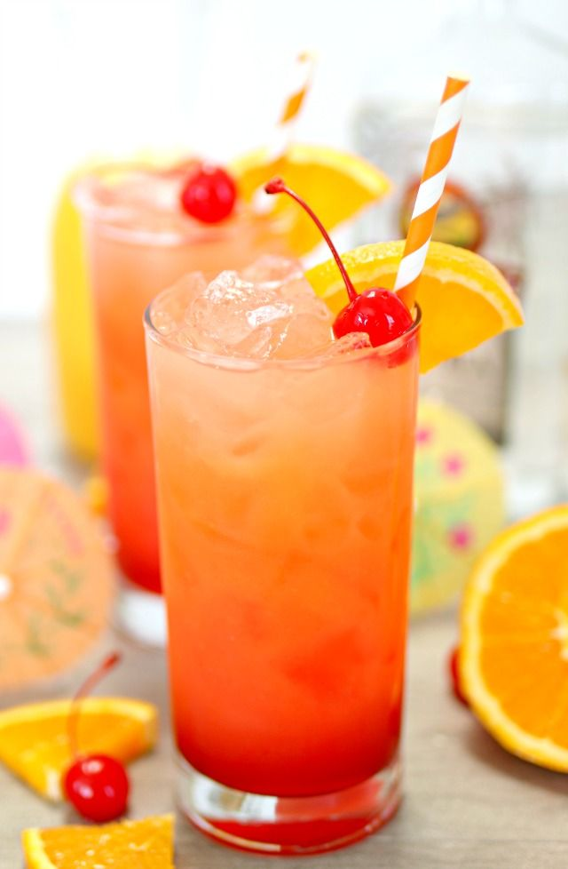 Tequila Sunrise Cocktail #cocktaildrinks