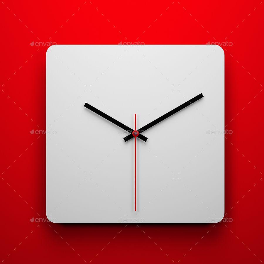 Square Wall Clock Mock Up Wall Square Mock Clock Ilham Verici Ilham Logolar