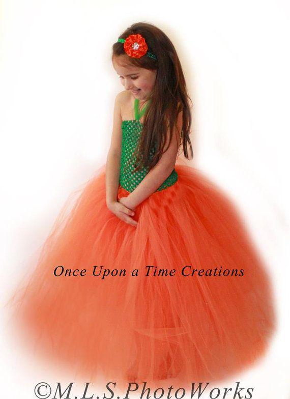 pretty little pumpkin tutu dress photo prop halloween costume girls size 12m 18m - 4t Halloween Costumes Girls