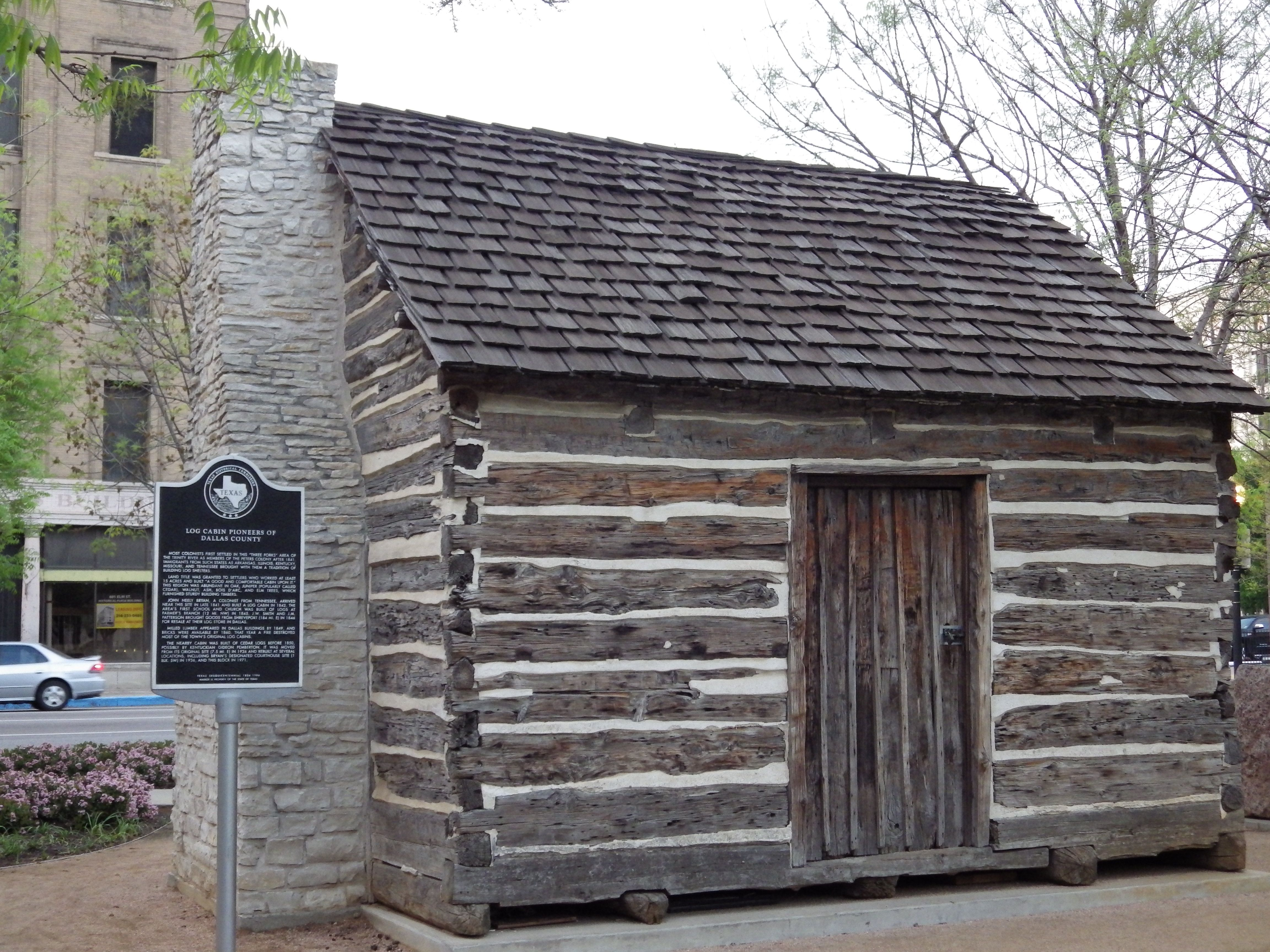 John Neely Bryan Cabin Also In Dealey Plaza In Downtown Dallas. This Is A  Reconstructed