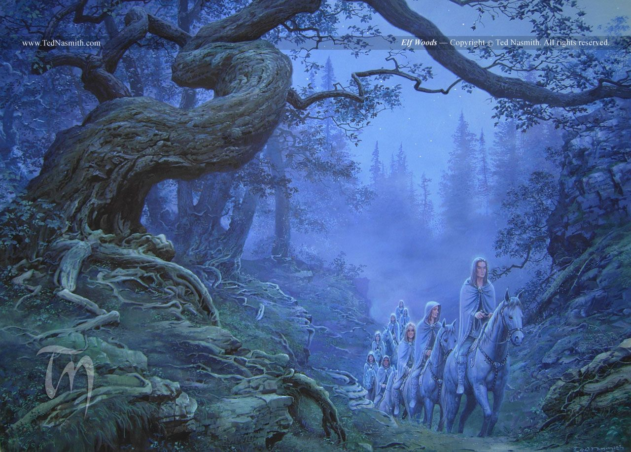 Elf Woods by Ted Nasmith