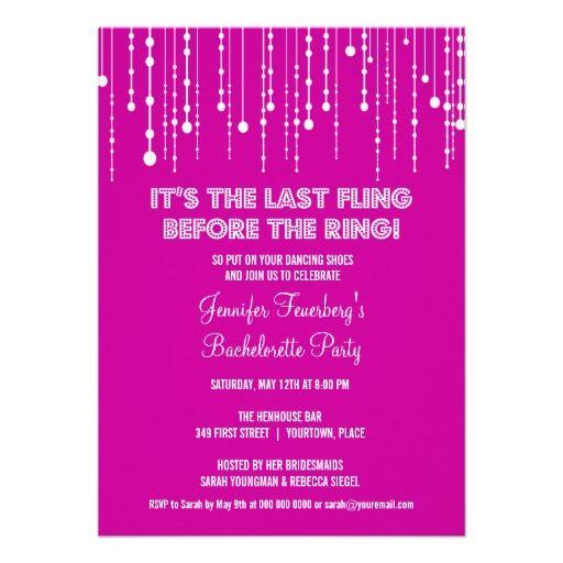 Hanging Lights Bachelorette Party Invitation – Online Bachelorette Party Invitations