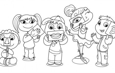 9 Senses Coloring Pages | Bake sales | Pinterest | Kindergarten ...