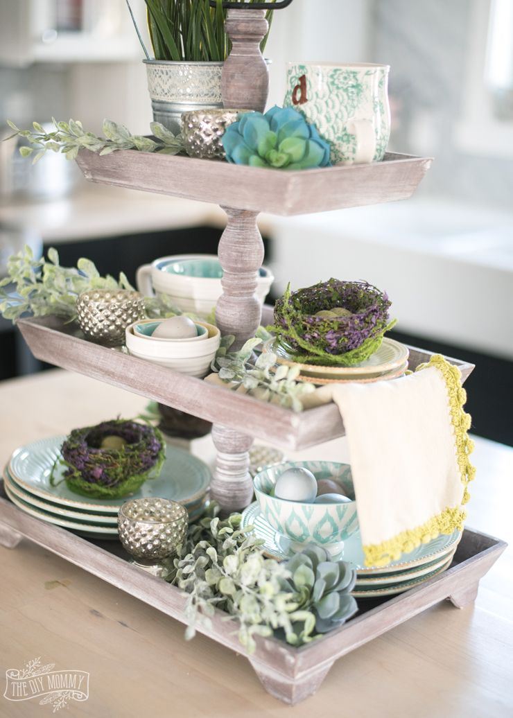 2017 Spring Home Tour Spring home decor, Tray decor