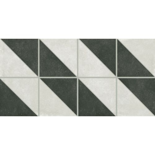 "Accent Tile Thinner Than Wall Tile: Palazzo 12"" X 24"" Decorative Tile In Castle Graphite Villa"