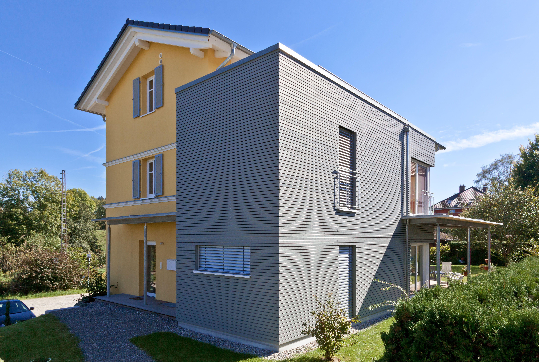 Fassade Gelb objekt wohnhaus holzfassade cape cod produkt rhombusleiste