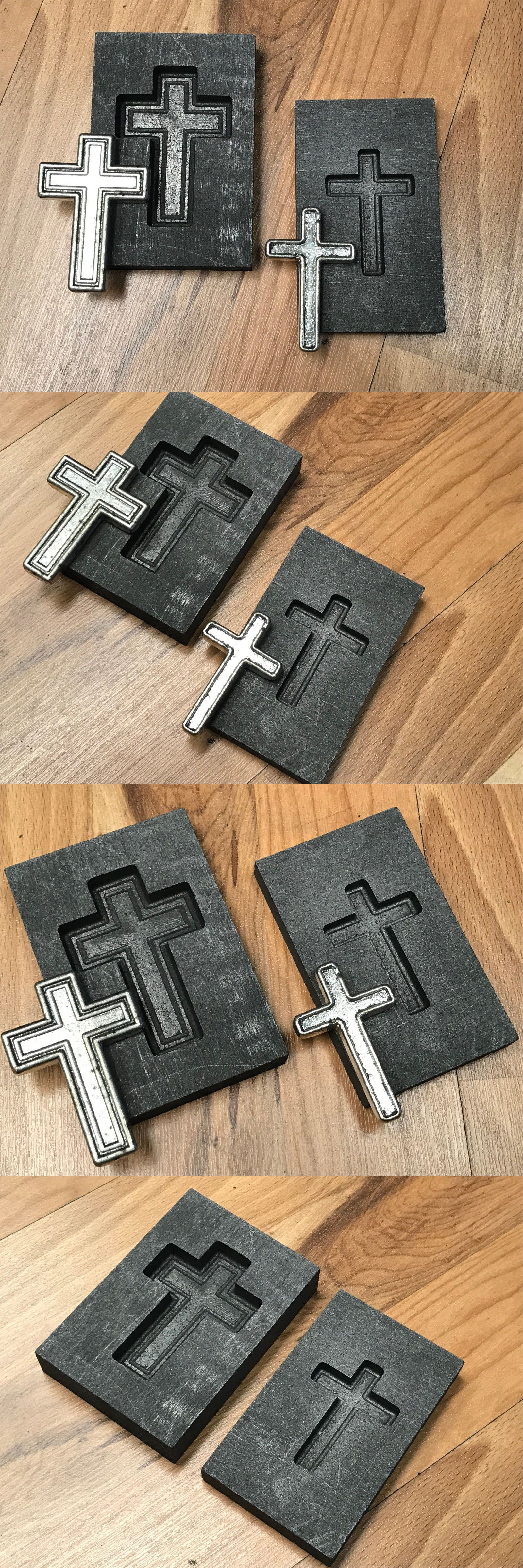 Jewelry Molds 67711: Cross Set Graphite Mold For Silver