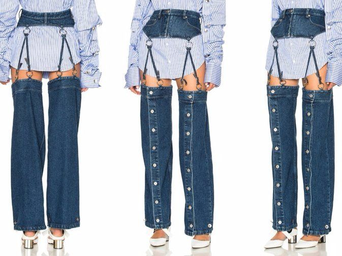These $570 garter-belt jeans are confusing the internet