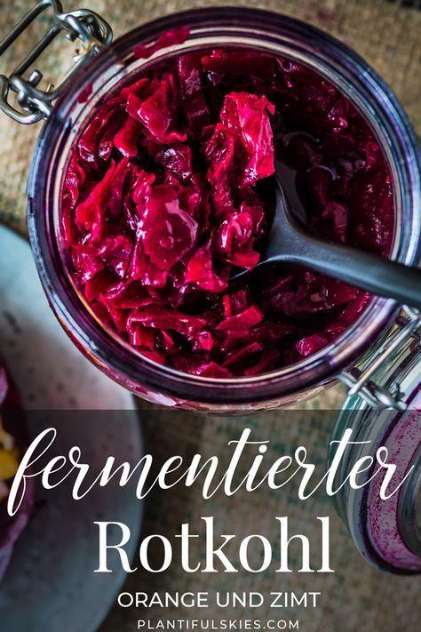 Lila Sauerkraut aka fermentierter Rotkohl- die Weihnachtsedition.