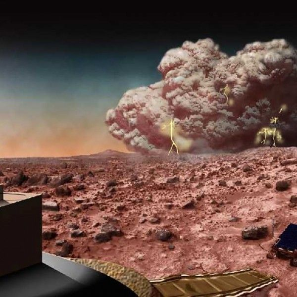 Fact and fiction of Martian dust storms 9/21/15 | Andy Weir's book The Martian - Could it happen? Artist's concept of a dust storm on Mars.