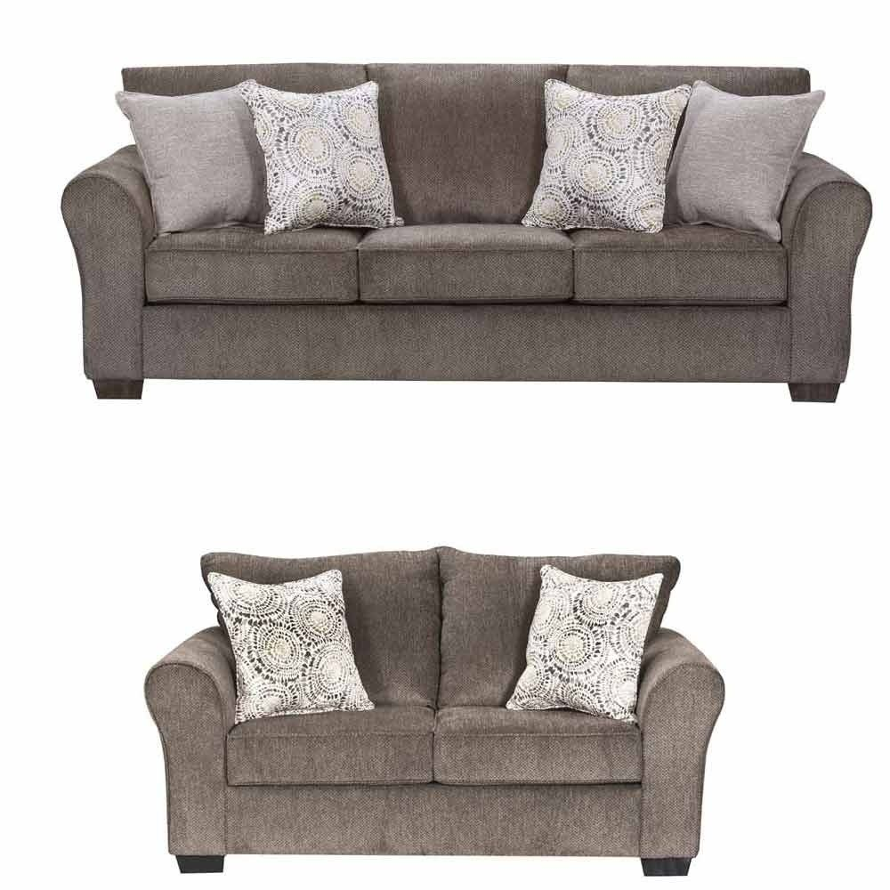 Simmons Upholstery - Harlow 2 Piece Sofa Set - 1657-03-02- Ash ...