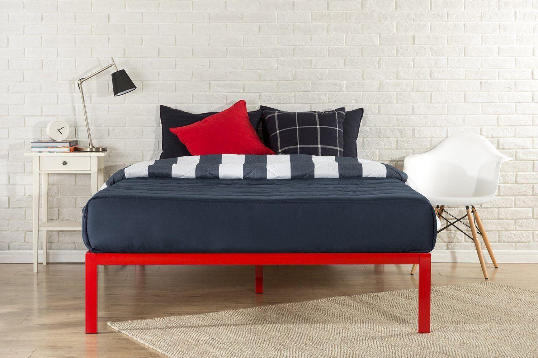 Zinus Modern Studio 14 Inch Platform 1500 Metal Bed Frame Mattress ...