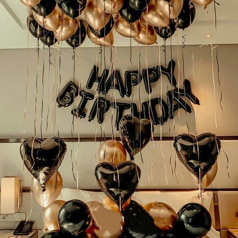 Black Gold Birthday Balloon Kit Birthday Decor 16th 18th 21st