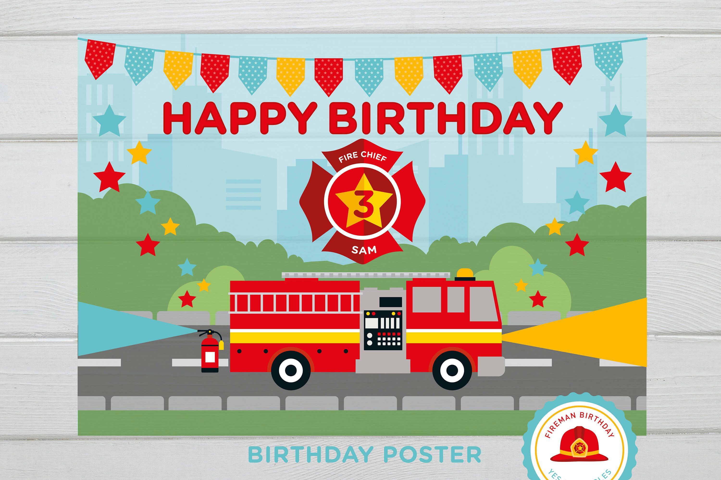 Excited To Share This Item From My Etsy Shop Fireman Birthday