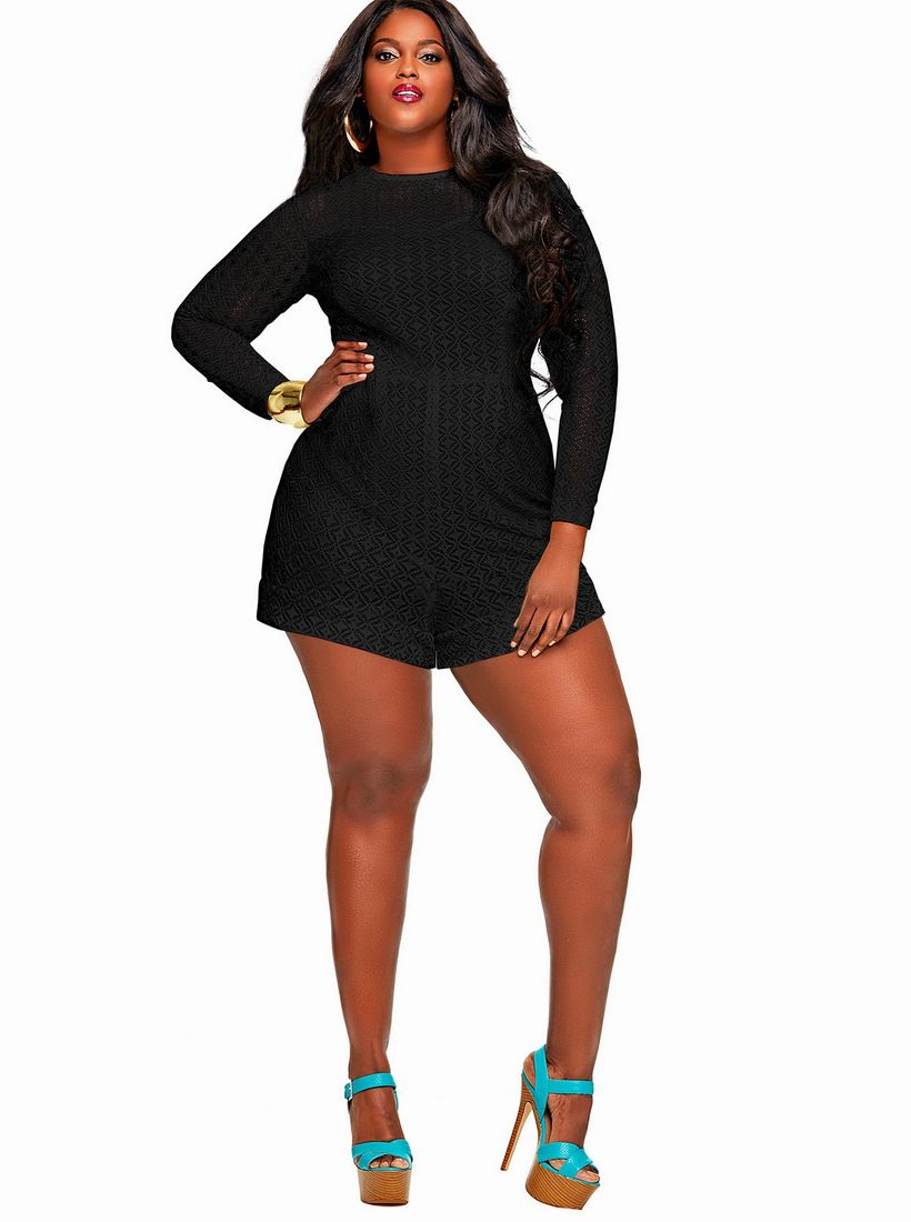 132aa0e614e Make a statement in these Monif C Plus Size Rompers