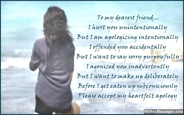 I am sorry poems for friends | Poems | Sorry quotes, Sorry best